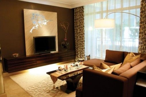 Charmant Modern Living Room Decoration For Small Apartments 508x339 Jpg
