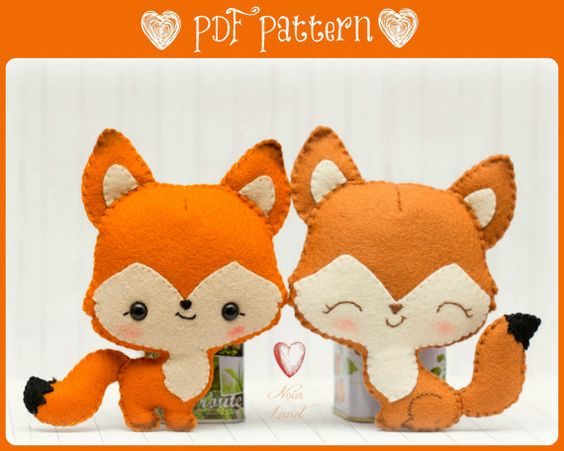 This PDF hand sewing pattern will give you instructions and patterns to make the fox pictured    Size: 5 approximately.    Language: English   THIS IS