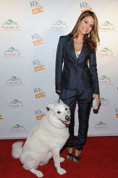 Maria Menounos and Stephanie Pratt at Friends of LA Animal Shelters party