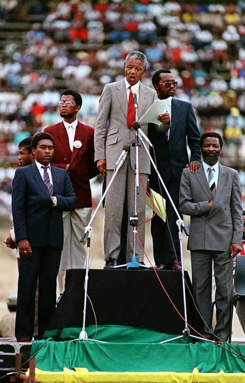 Recently Freed Anti Apartheid Leader And African National