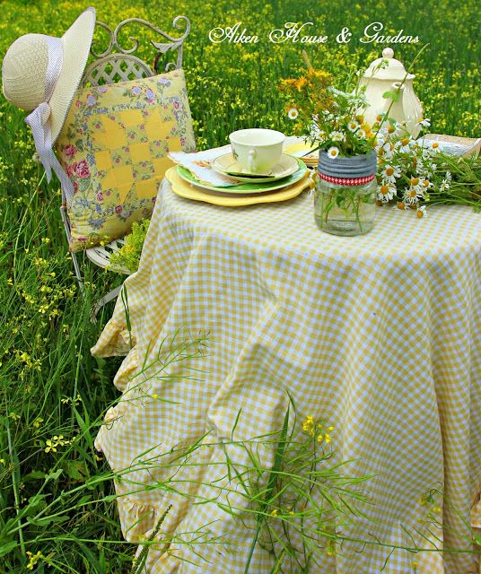 Aiken House & Gardens: Tea Time ~ A Year in Review #yellow