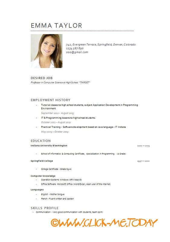 Resultat De Recherche D Images Pour Modele De Cv Developpeur Web Developpeur Web Modele Cv Modele Cv Etudiant