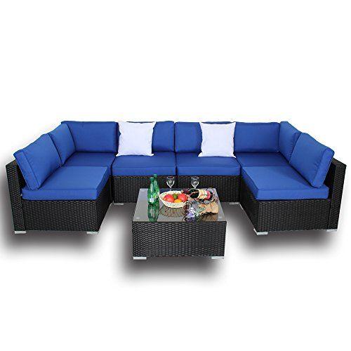 Cheap Outdoor Black Rattan Wicker Sofa Set Garden Patio Furniture