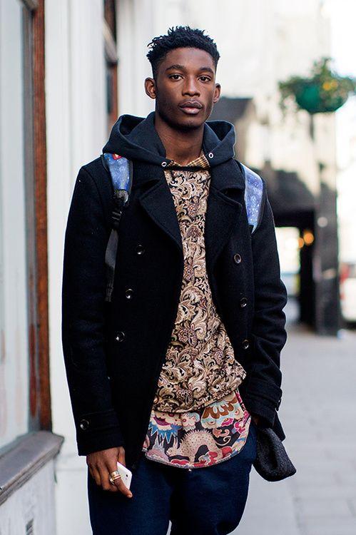 Street looks à la Fashion Week homme automne,hiver 2015,2016 de Londres