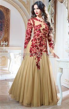 beautiful gown designs enbroidery for social gatherings - wedding ...