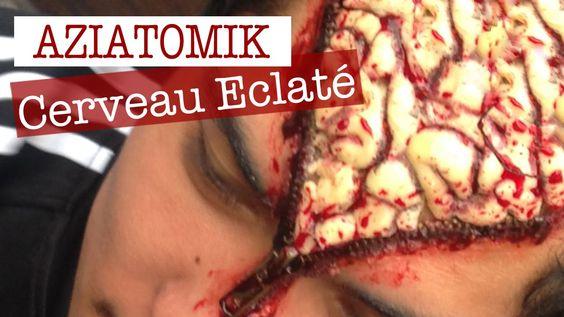 Maquillage Effets Spéciaux : Cerveau Eclaté sur Aziatomik