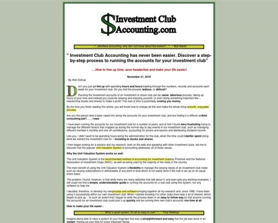 Investment Club Accounting Com Easy Accounting For Investment Clubs Diginfopro Https Diginfopro Com Investment Club In 2020 Investment Club Investing Accounting