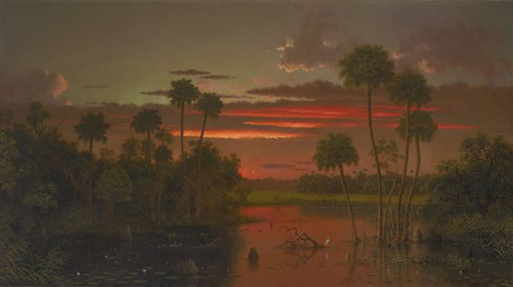 The Great Florida Sunset, 1887, Martin Johnson Heade