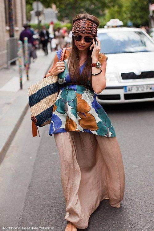 Summer and pregnant style - Miroslava Duma.