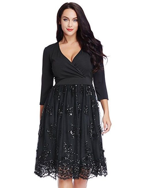 Top 8 Stunning Plus Size Christmas Party Dresses | Plus size ...