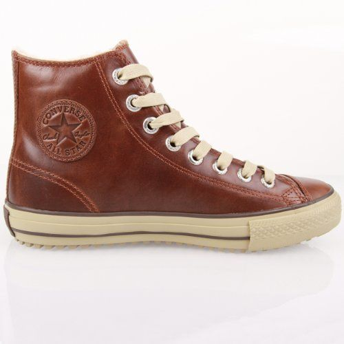 converse leather boot mid lining pinecone brown 134478c