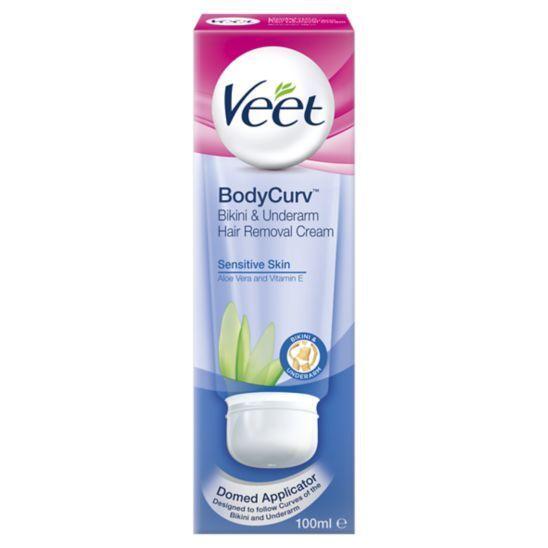 Veet Bodycurv Bikini And Underarm Hair Removal Cream For Sensitive Skin 100ml Boots Underarm Hair Removal Bikini Hair Removal Cream Bikini Hair Removal
