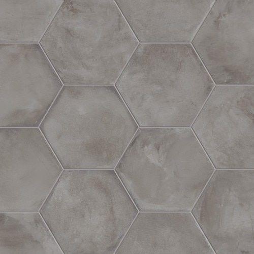 Terra Nero 8 Hex Concrete Tiles Bathroom Hexagon Tile Floor Flooring
