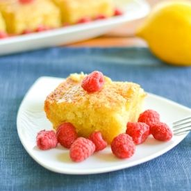Lemon cake made with extra-virgin olive oil instead of butter.