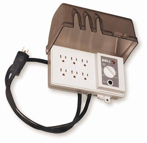 Hubbell All Weather 30 Inch 6 Grounded Outdoor Outlet Strip With Photocell And 6 Position Timer Fb3005 Outdoor Outlet Outlet Strip Timer