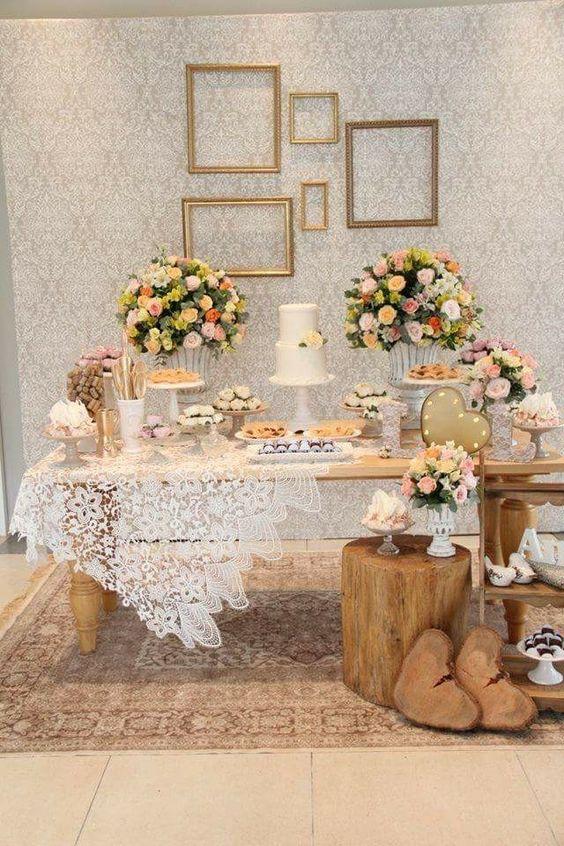 Extremamente lindo.  Decoração vintage e romântica, para noivado ou decoração da mesa parte 4