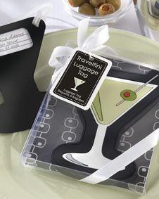 Traveltini Martini Luggage Tag. http://www.bluerainbowdesign.com/WeddingFavorProduct.aspx?ProductID=PR011711170009J0123456789XBRD98109