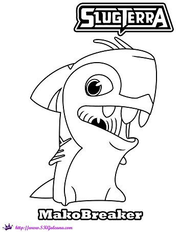 Slugs from slugterra coloring pages xmitter slugterra coloring page by - Slugterra Printables Activities And Coloring Pages