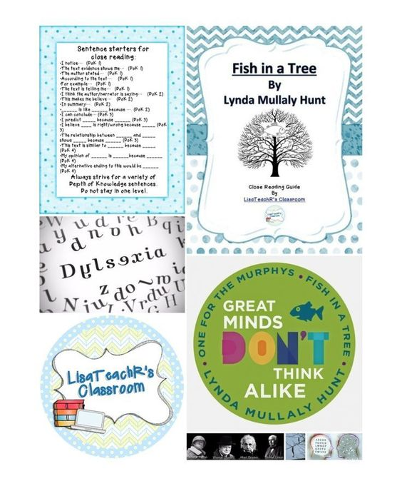 Close reading schools in and great books on pinterest for Fish in a tree by lynda mullaly hunt