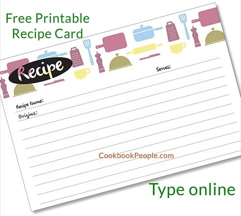 Free Recipe Cards Recipe Cards Template Printable Recipe Cards Recipe Cards Printable Free