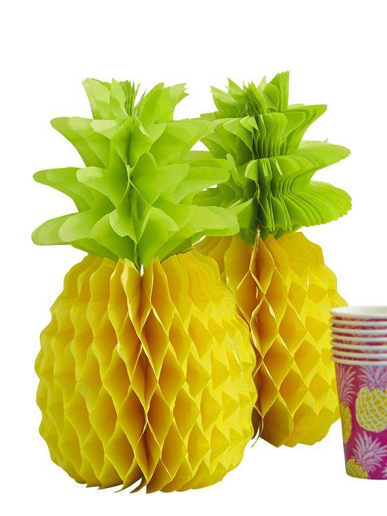 Summer Fruits Honeycomb Pineapple Decorations