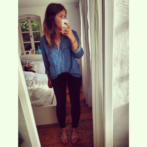 jeanshemd reinstecken