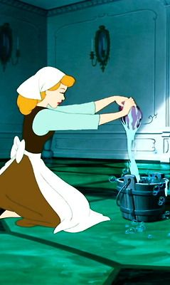 Cinderella Doing Chores Disney Pinterest The Floor