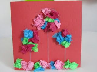 Homemade Flower Cards for Mom--for even the youngest crafters!