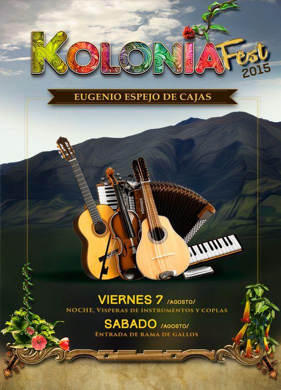 Afiche de Fiestas tradicionales Imbabura-Ecuador on Behance