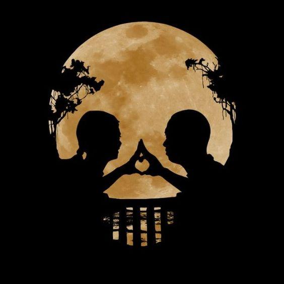 Light of the moon skull