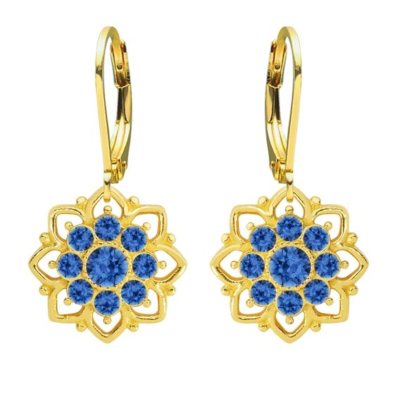 Lucia Costin Yellow Goldplated Sterling Silver Earrings
