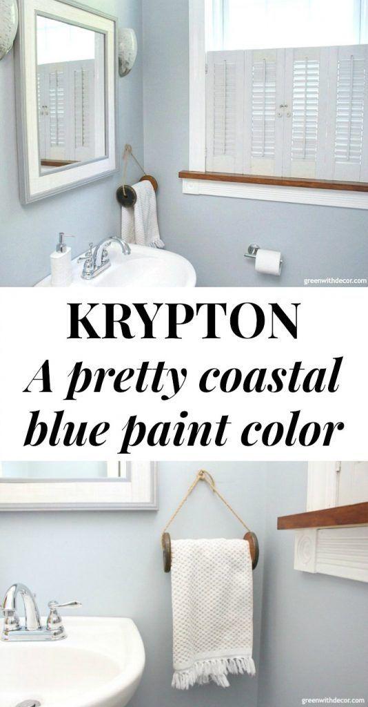 Krypton By Sherwin Williams Paint Colors Green With Decor Farmhouse Style Bathroom Decor Diy Towel Rack Diy Towels