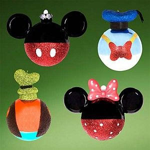 Disney Christmas Ornament Set - Mickey Mouse Ornaments Best of Mickey