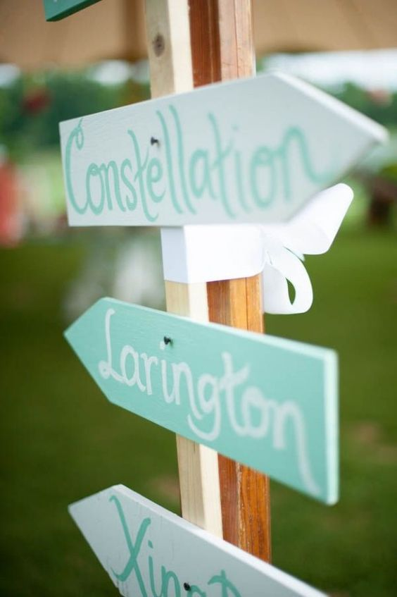 Mint Wedding Inspiration - Signs