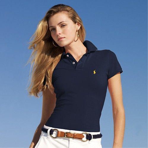 cheap polo ralph lauren Women\u0026#39;s Classic-Fit Short Sleeve Polo Shirt Navy Blue http: