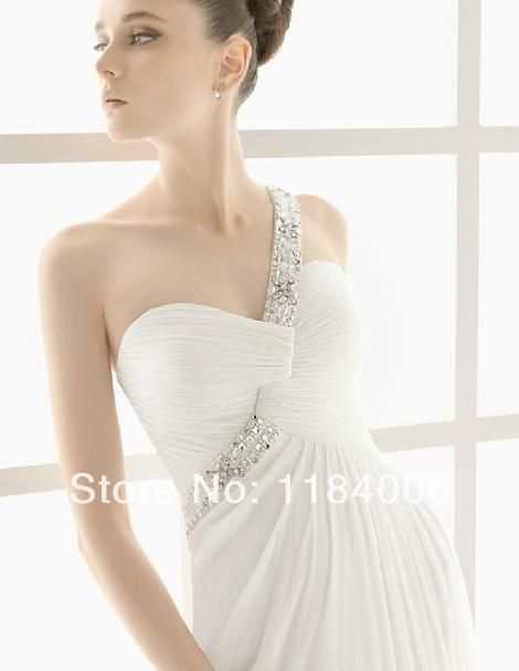 Free Shipping Free Shipping 2014 Sexy one-shoulder Bridal Dress Wedding Dress  HK-277 $159.99