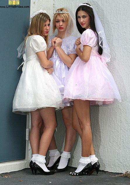 Bride in wedding dress gets a gangbang