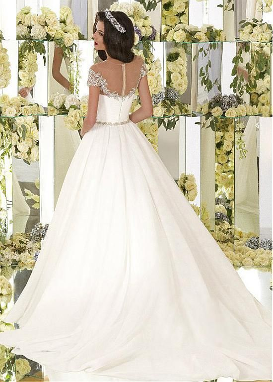 Gorgeous Organza Jewel Neckline Ball Gown Wedding Dresses With Beaded Embroidery