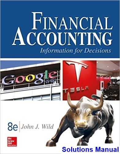 Financial Accounting Information For Decisions 8th Edition John Wild Solutions Manual Digital Deal Promotion 2021 Financial Accounting Accounting And Finance Accounting