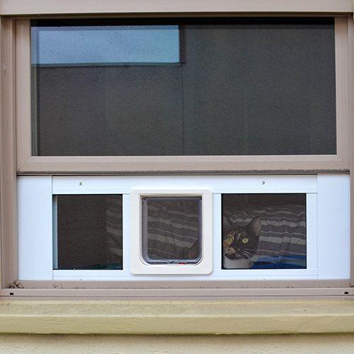 Ideal Cat Sash Pet Door For Windows Window Cat Door In 2020 Cat Door Pet Door Windows