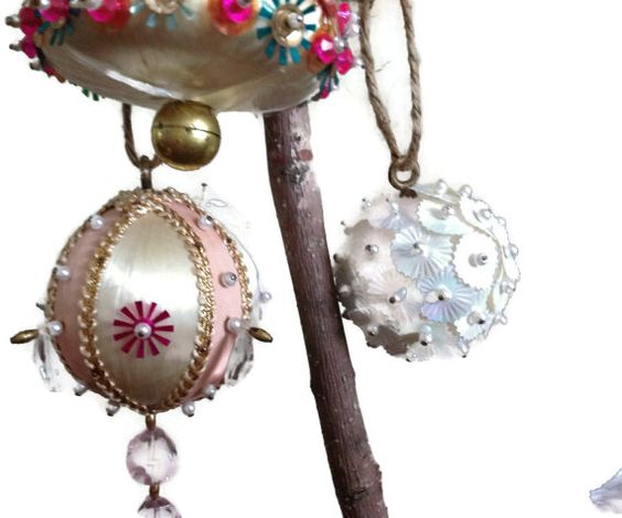 Hey, I found this really awesome Etsy listing at https://www.etsy.com/listing/162904415/vintage-pink-christmas-ornaments