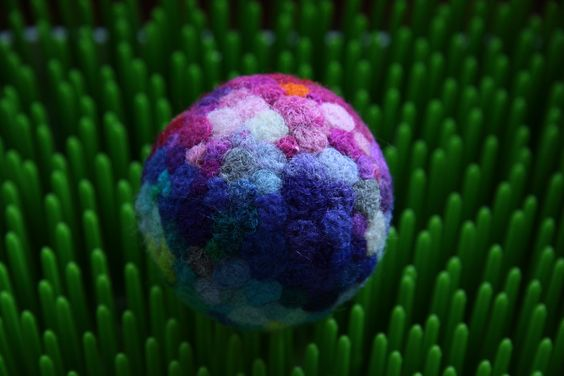 Needle Felted Ball. #BoBane