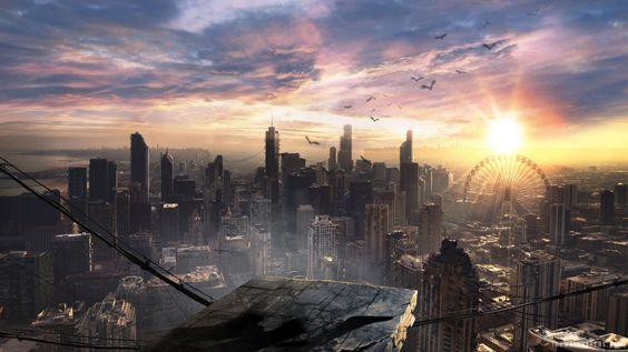 Fond d'écran 1600x900 Divergent  Post-Apocalyptic Landscape