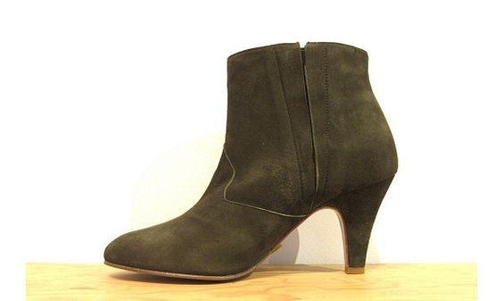 Patricia Blanchet boots Fritzlang kaki #patriciablanchet #khaki #fritzlang #lowboots #ss16