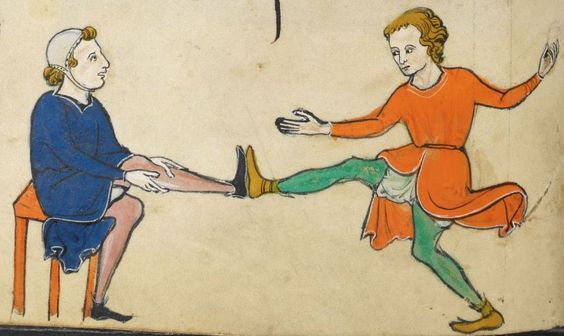 "Detail from ""The Rutland Psalter"", medieval (c1260), British Library Add MS 62925. f 43v"
