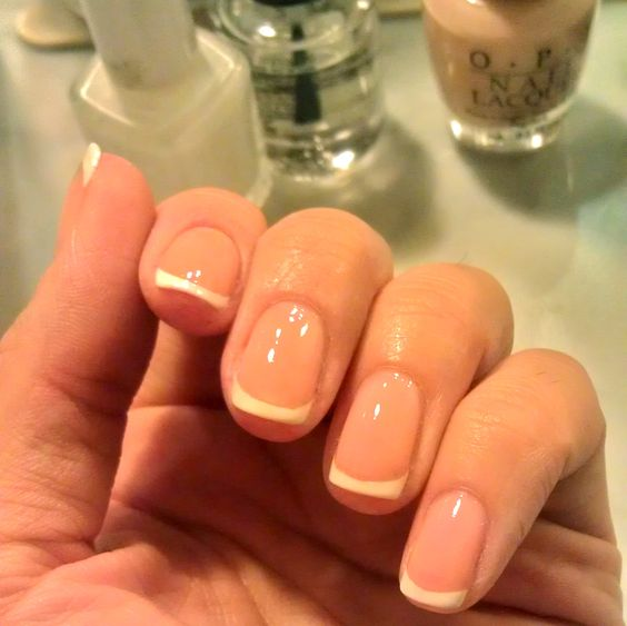 Easiest french manicure