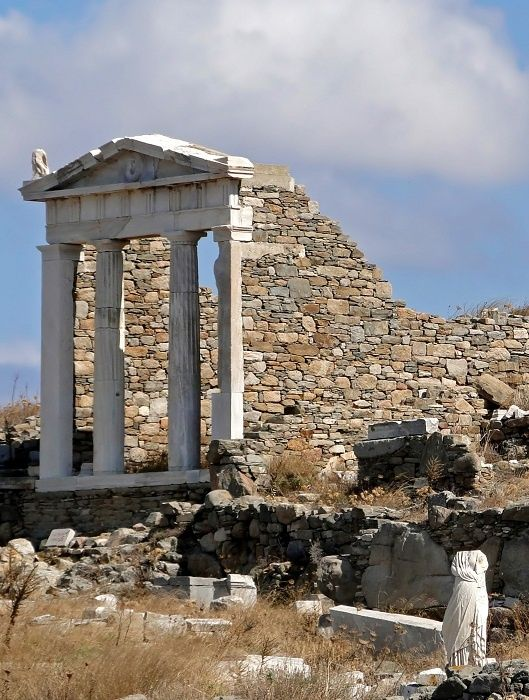 Temple of Isis on Delos, Greece - uninhabited and protected. In its heyday island was used only for religious purposes.