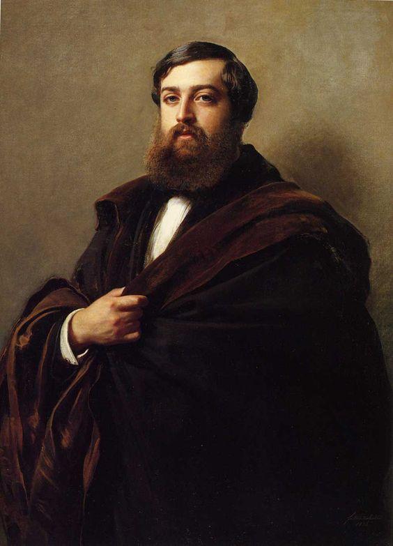 +Franz Xaver Winterhalter - Portrait of Alfred-Emilien, Comte de Nieuwerkerke - 1852: