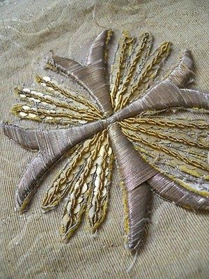 18TH-CENTURY-STOLE-AND-VEIL-GOLD-FABRIC-AND-METALLIC-TRIM-ANTIQUE-FRENCH