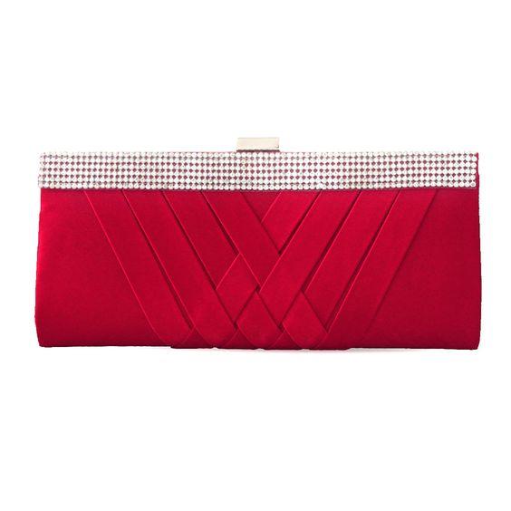 Charming Criss-cross Pleats Silk Handbag With Cheapest Price $38.98 Offered By Prinkko   Read More:   http://www.chic-add.com/charming-criss-cross-pleats-silk-handbag-1169.html